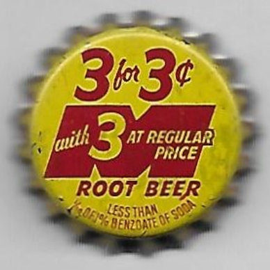 MASON'S ROOT BEER 3 FOR 3 CENTS