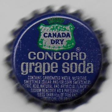 CANADA DRY CONCORD GRAPE SODA