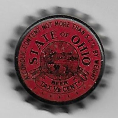 OHIO BEER TAX 1/2¢ 3.2% beer