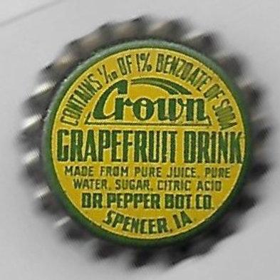 CROWN GRAPEFRUIT DRINK DR. PEPPER BOTG. CO.
