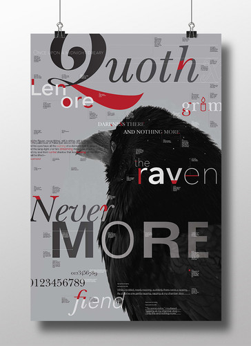 """The Raven"" Typographic Poster, 2018"