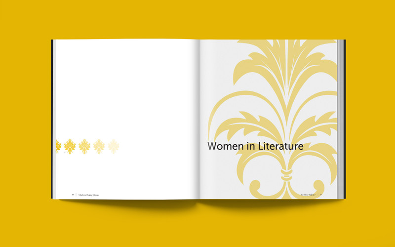 """""""The Yellow Wallpaper"""" Chapter Divider Spread"""