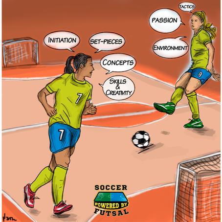7 formas de usar o Futsal para desenvolver jogadores de Futebol