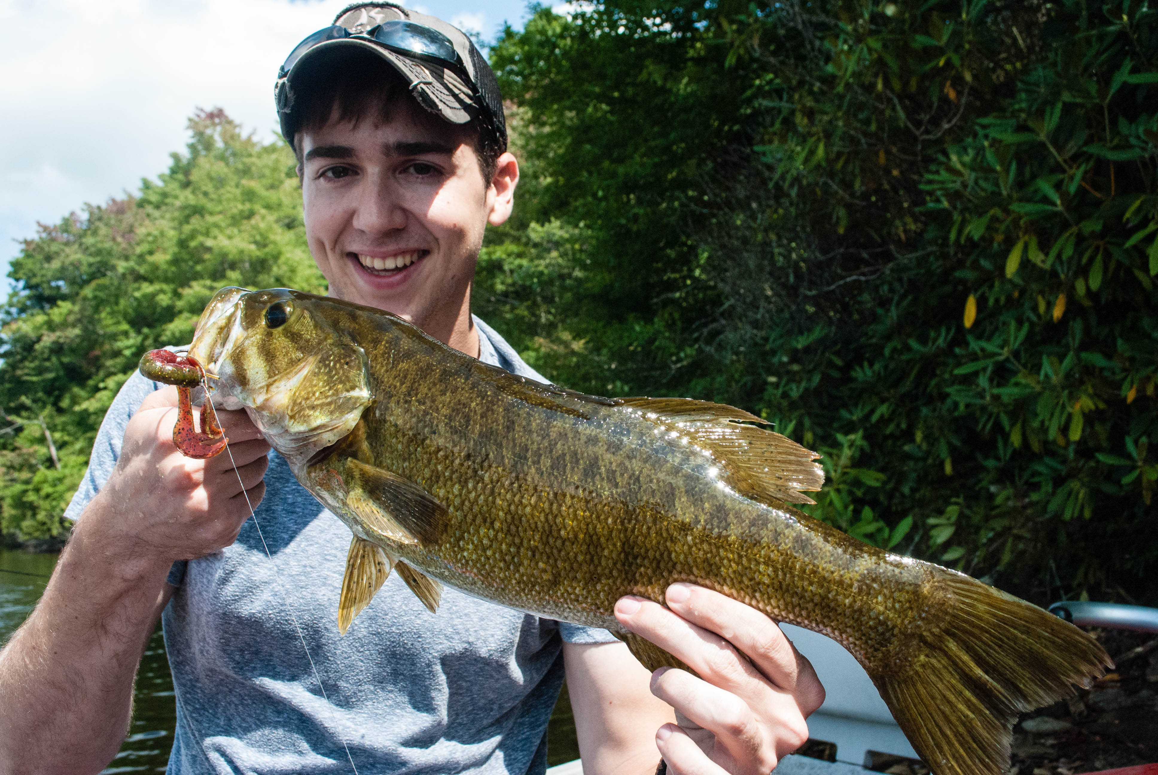 President Taylor with his first smallmouth ever at 20.5_