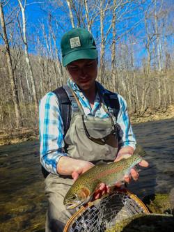 Wild winter rainbow