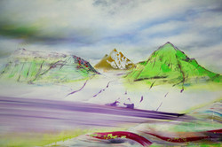 Detail: Vestfirðir Vestrahorn