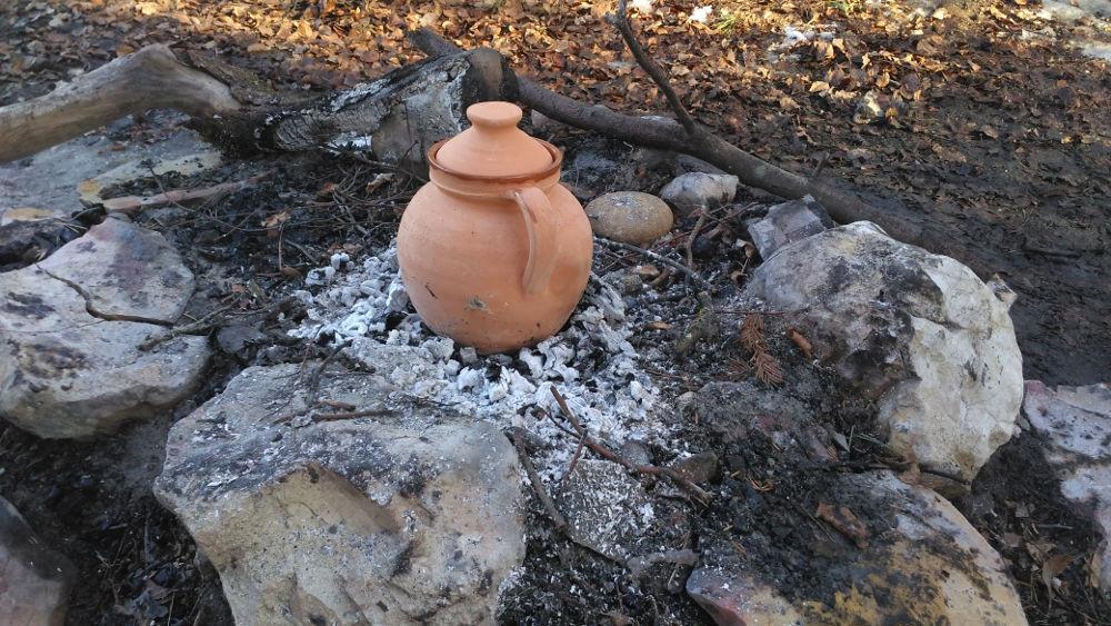 coquemar sur le feu