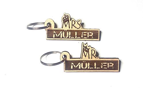 Mr & Mrs. personalisiert