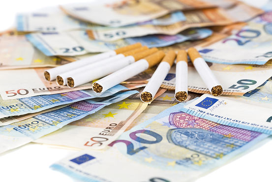 20 and 50 Euro banknotes bills cash with