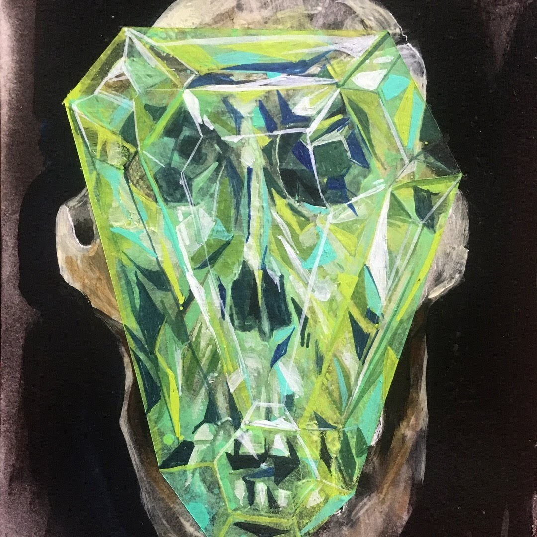 gorilla skull and gem