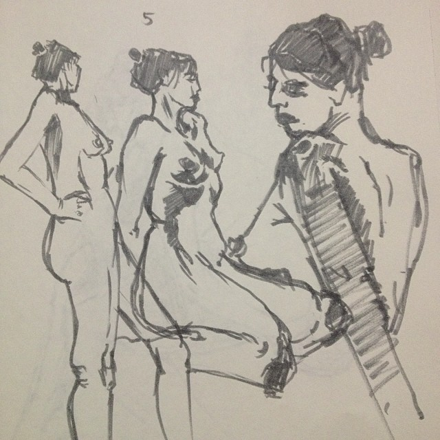 5 minute poses from the life drawing ses