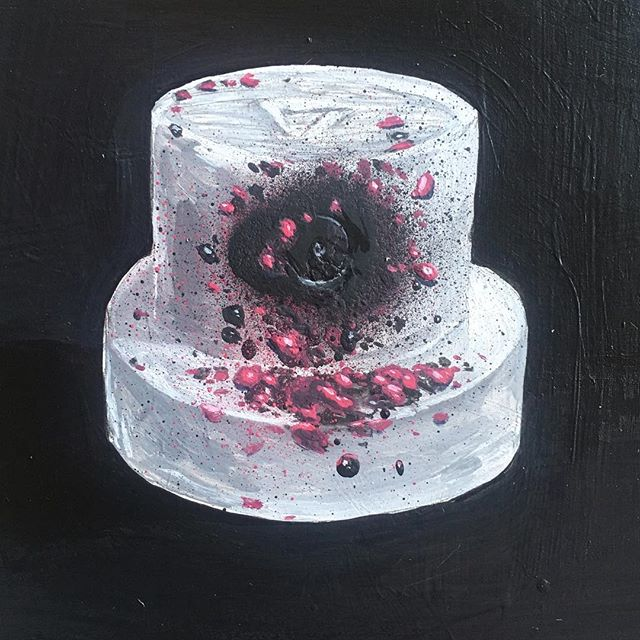 #painting of a clogged #reddot cap #spra