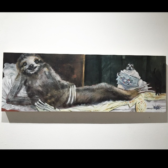 My #sloth painting for #sfsurvivors show