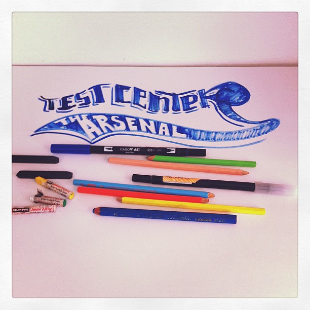 Drawing session today in the shop, either on the big test center drawing pad or on the giant sharpie