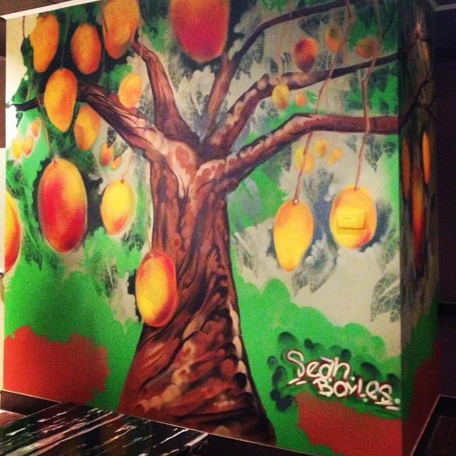 Section of mural #mango #mural #mangogar