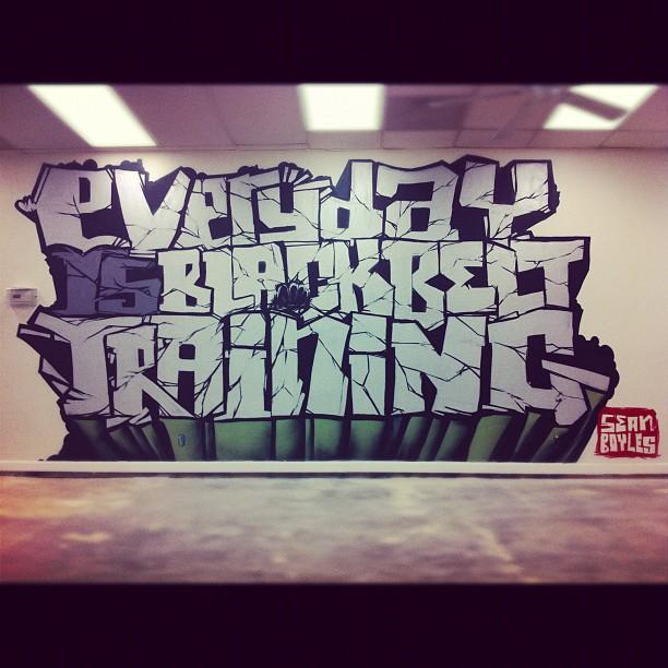 _everyday is blackbelt training_ piece I