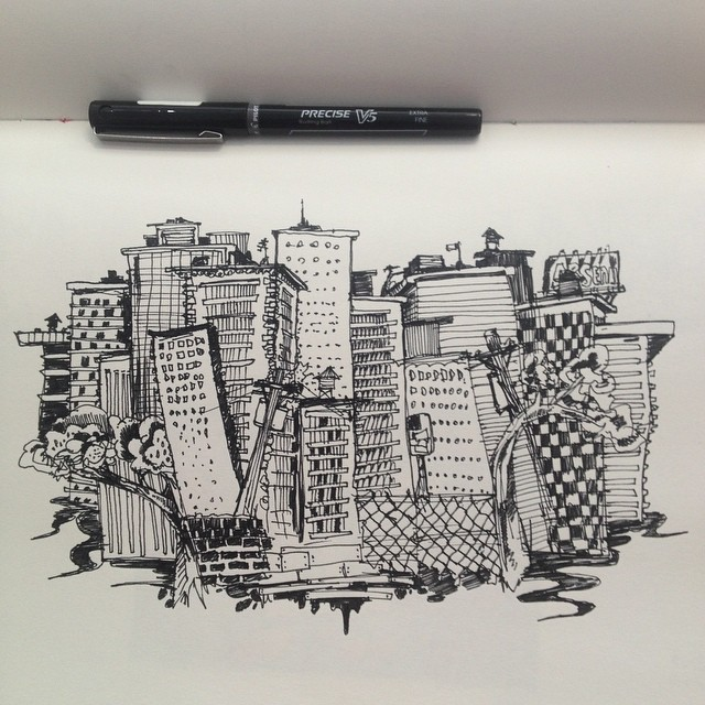 City block sketch