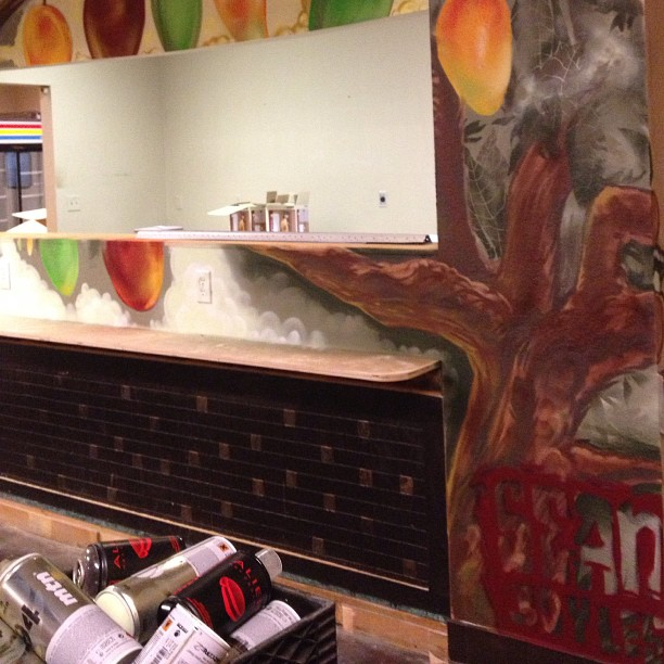 Finished mango tree mural