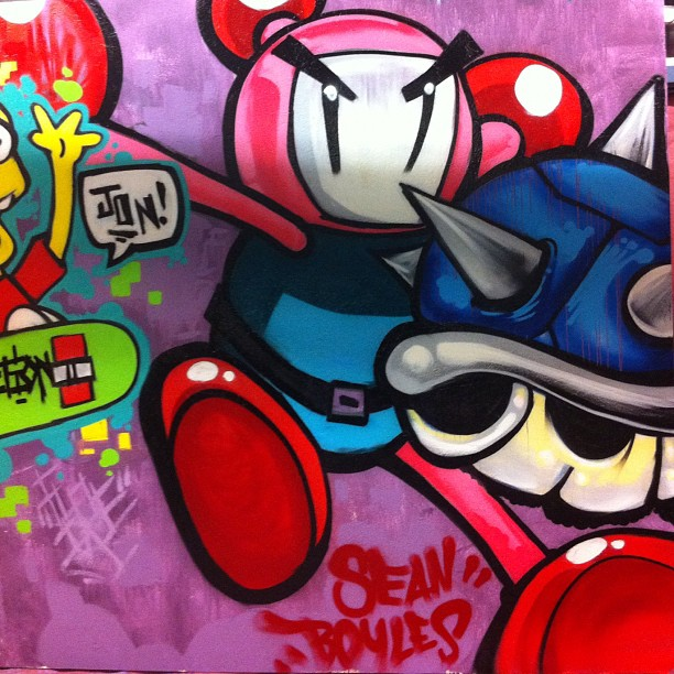 My section of the video game mural #bomb