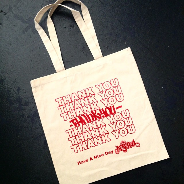 Made and printed a bag design for _thearsenalsj #rememberwhenbagswerefreeinsanjose #takeoutfood #tha