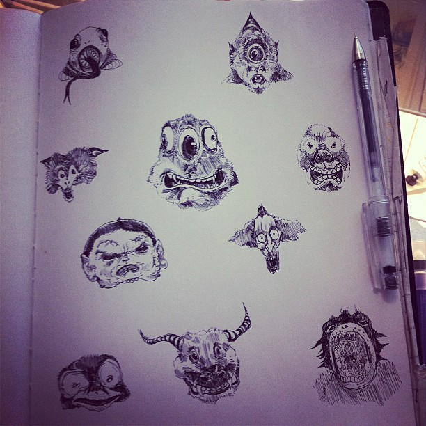 Monster heads