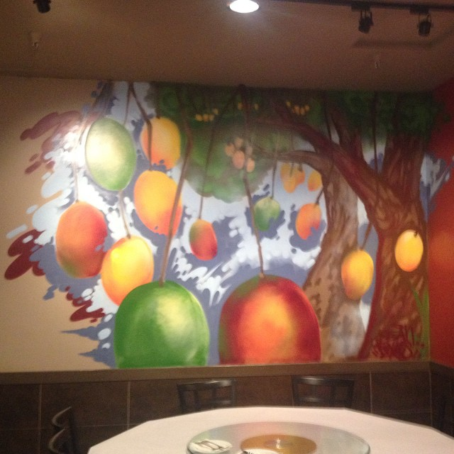 Finished a mural at #mangogarden's third