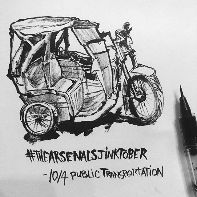 #tricycle for #thearsenalsjinktober chal