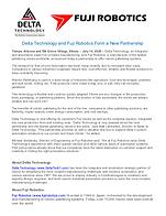 Fuji Robotics - Delta Technology Partnership