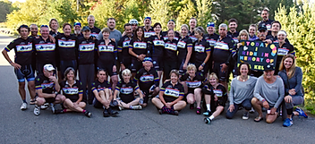 MS Global 2016 Ride Group Shot Lake Placid, NY