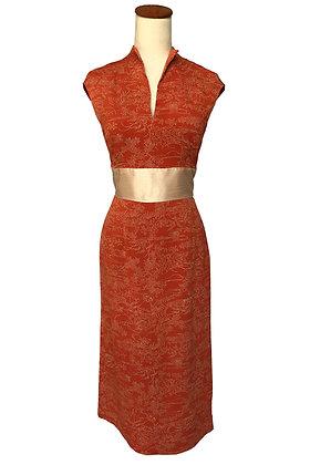 Orange crepe Maple dress