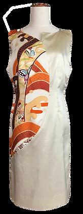 Ivory satin Butterflies dress