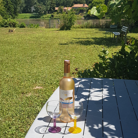 A cold drink in the garden