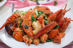Lobster with Ginger scallio