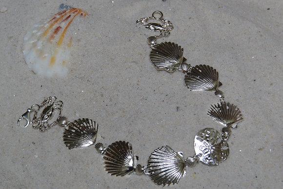 Turtle & Sand Dollar Bracelet