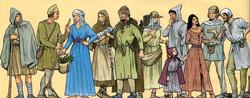 La mode du peuple au Moyen Age