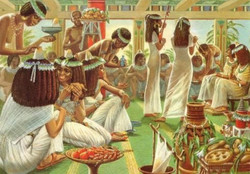 La cour égyptienne