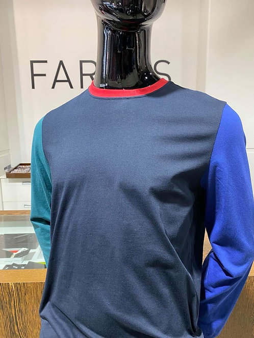 Paul Smith multi panel long sleeve tee