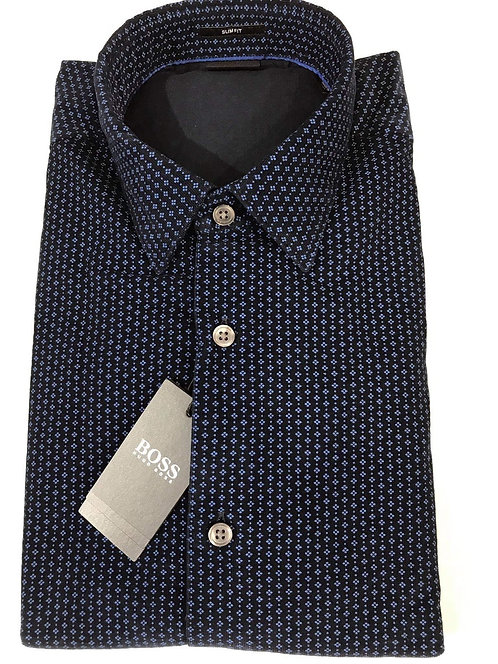 Hugo Boss micro pattern shirt