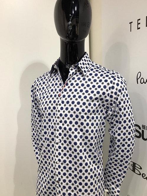John Lennon big dot print shirt