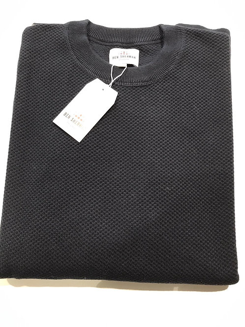 Ben Sherman waffle knit crew neck sweater
