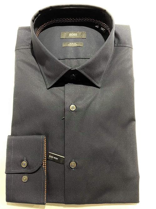 Hugo Boss navy slim fit shirt