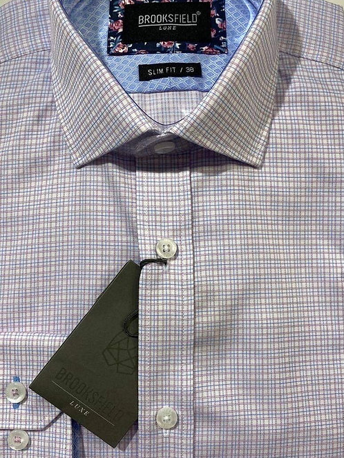 Brooksfield micro check shirt