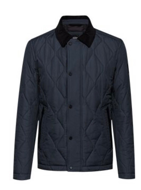 Hugo Boss quilted jacket with corduroy collar