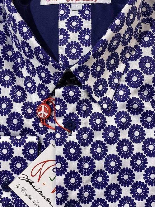 John Lennon Blue and White floral