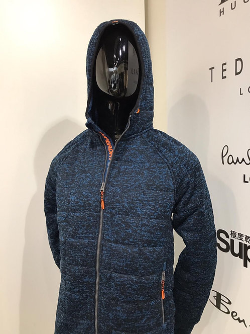 Superdry knit jacket with hood