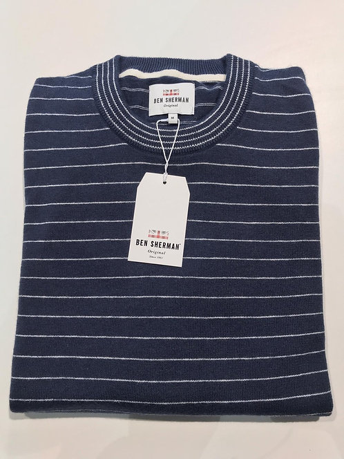 Ben Sherman striped crew neck sweater