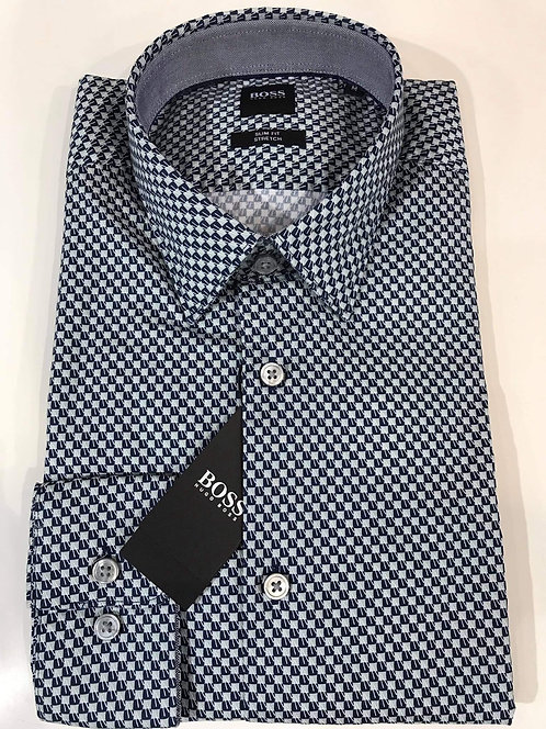 Hugo Boss geo print casual long sleeve shirt