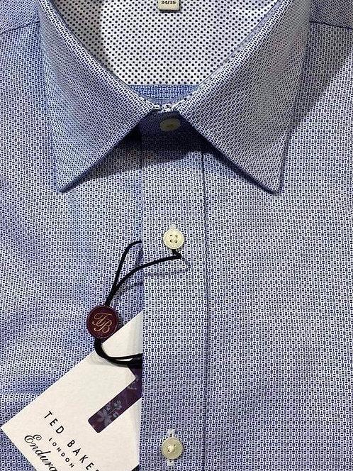 Ted Baker micro pattern blue endurance shirt