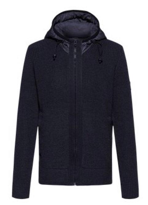 Hugo Boss heavy knitted jacket with hood
