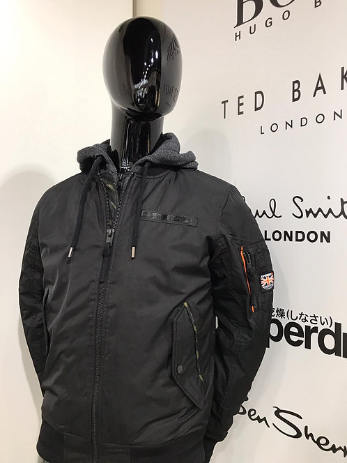 Superdry bomber jacket with hood